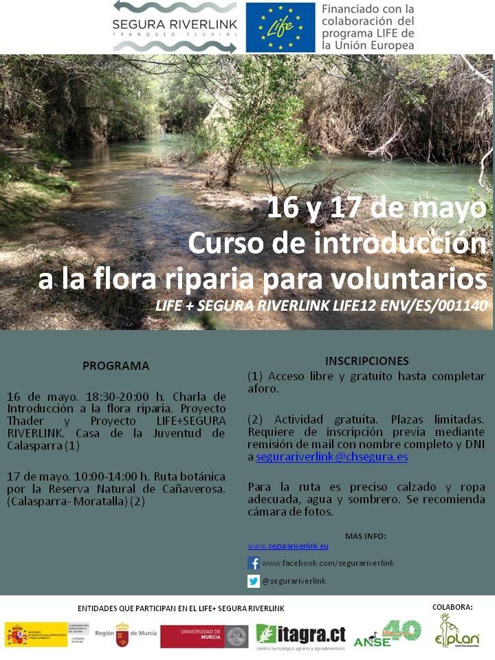 Curso de flora riparia con el LIFE+ Segura Riverlink