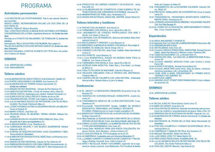 Programa de Ecoaltea 2015