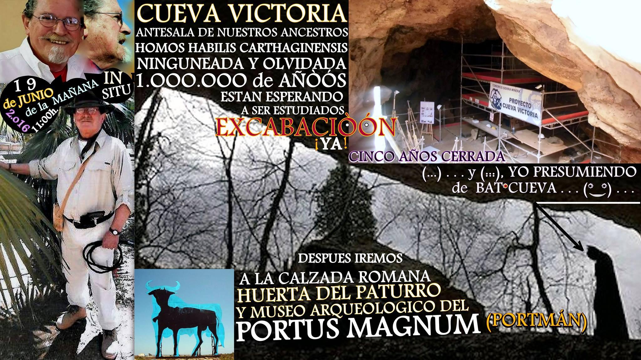 Magna Mañana en Cueva Victoria - Portus Magnum, con García del Toro.