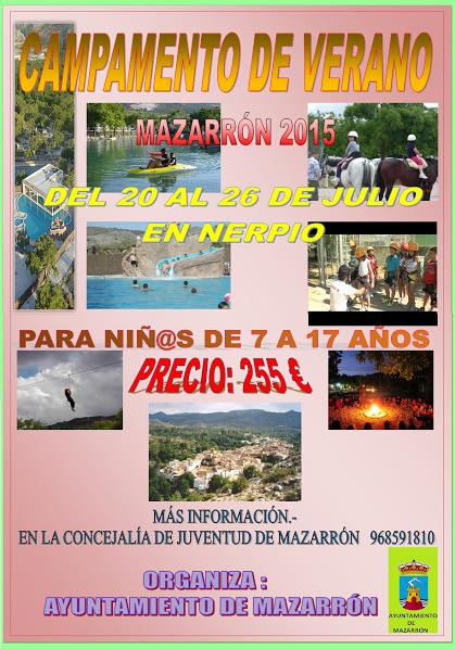 Campamento en Nerpio con el Ayto. de Mazarrón