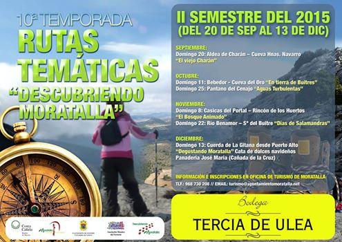 Programa 'Descubriendo Moratalla' de septiembre a diciembre de 2015