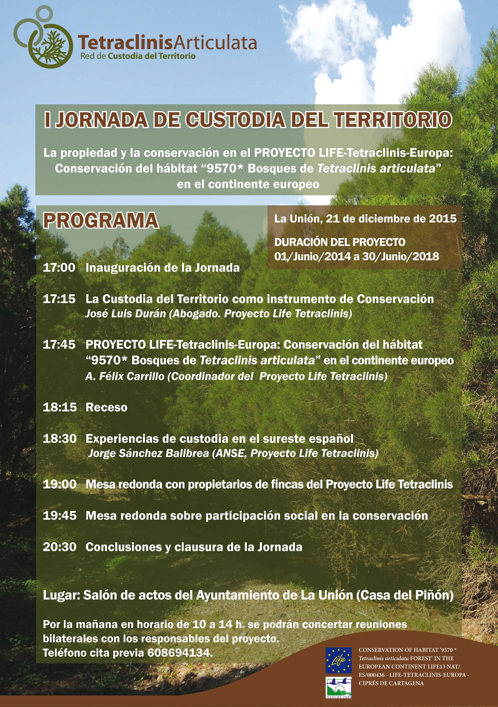 I Jornada de Custodia del Territorio, Programa