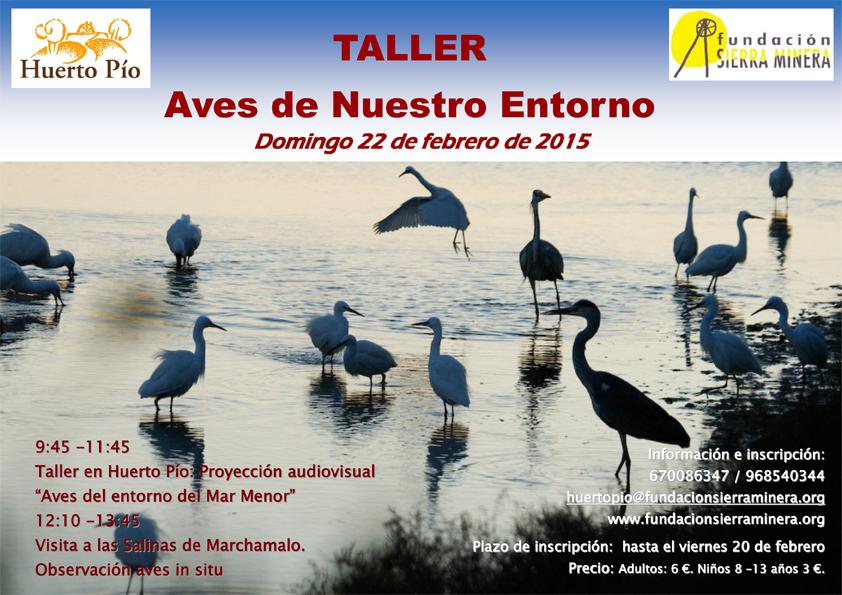 Taller: Aves de nuestro entorno en Huerto Pío