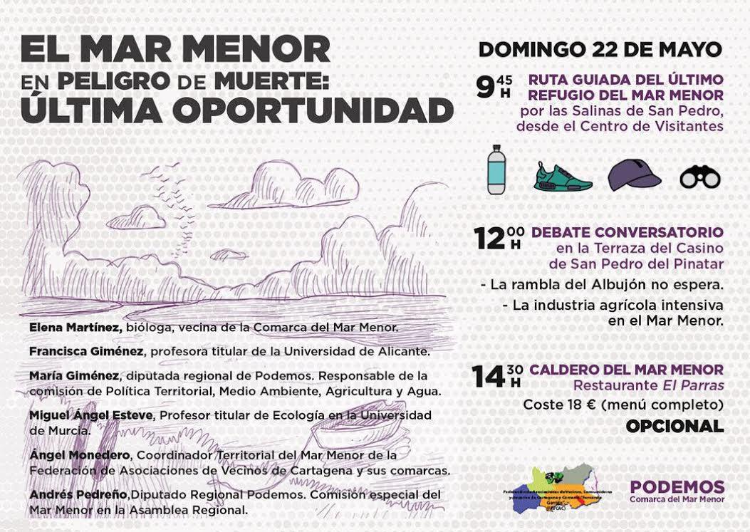 Jornada 'El Mar Menor en peligro de muerte: última oportunidad'.