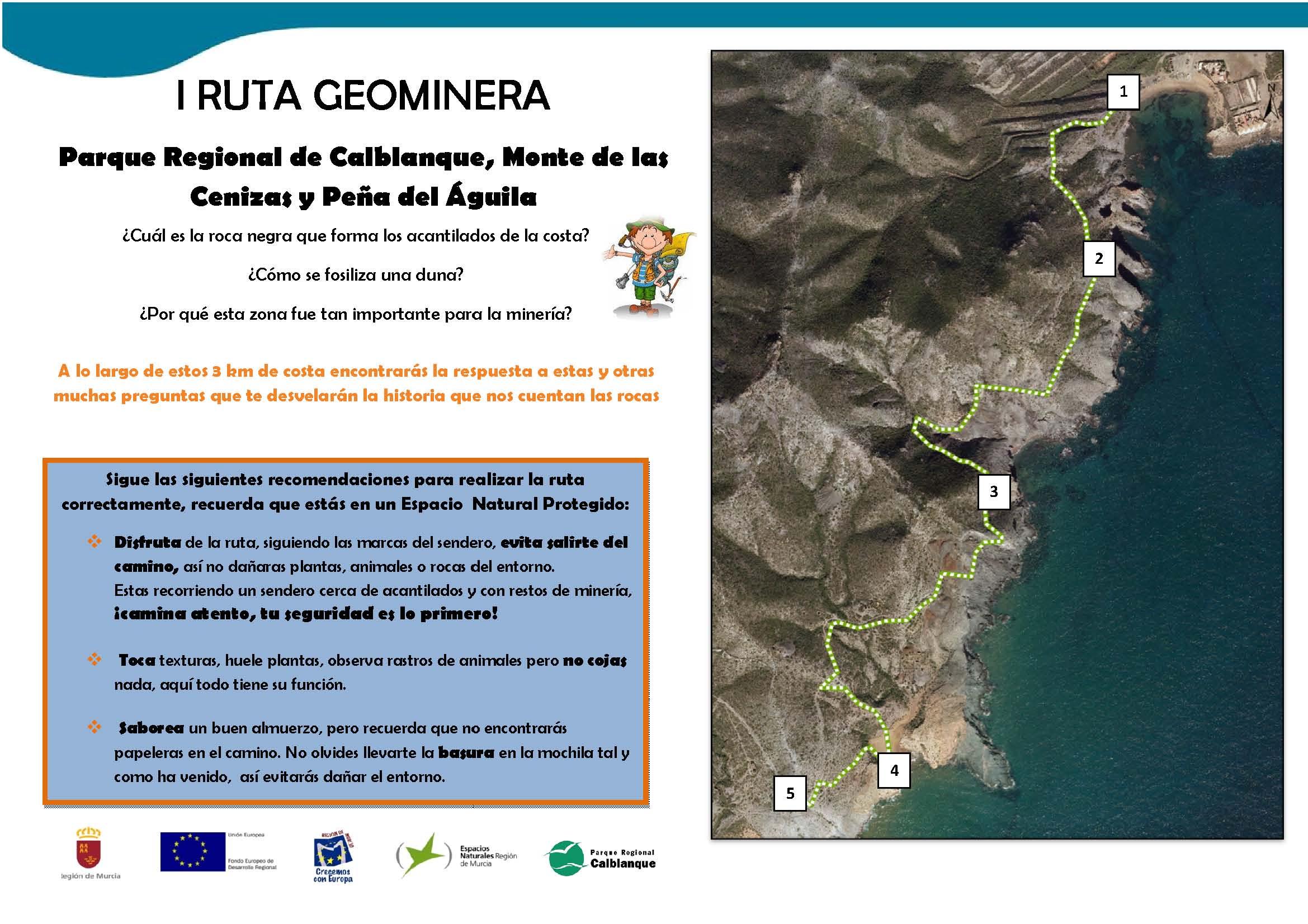 Ruta Geominera por Calblanque Itinerario