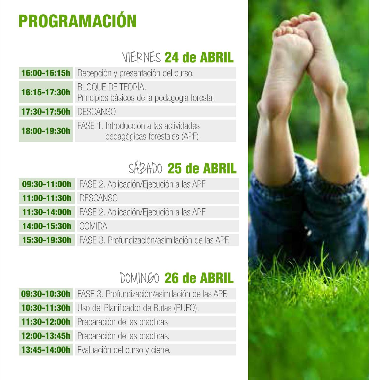 Programa Formación como Monitor de Actividades Pedagógicas del Medio Natural con Profor