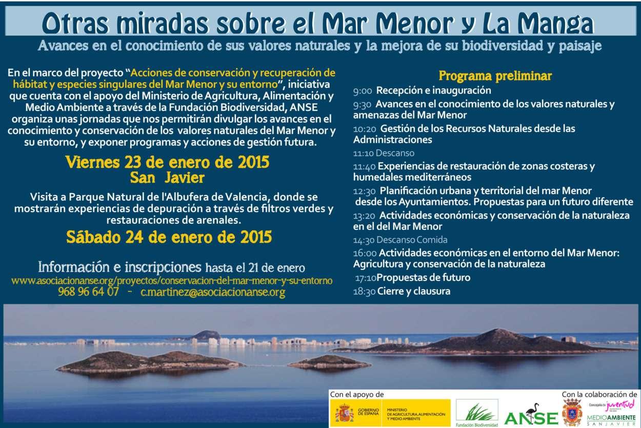 Programa de las Jornada sobre el Mar Menor con ANSE