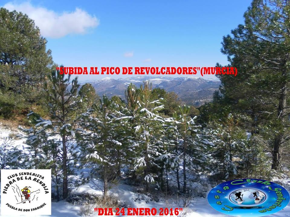 Cartel de la Subida a Revolcadores con el Club Senderista Casta y Club Senderista Piedra de la Rendija.
