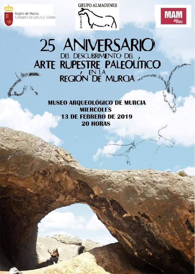 25 aniversario del descubrimiento Arte Rupestre Paleolítico en Murcia, con el MAM