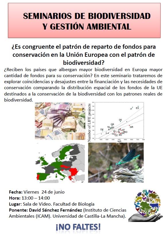 Charla sobre fondos europeos para la conservación en la UMU