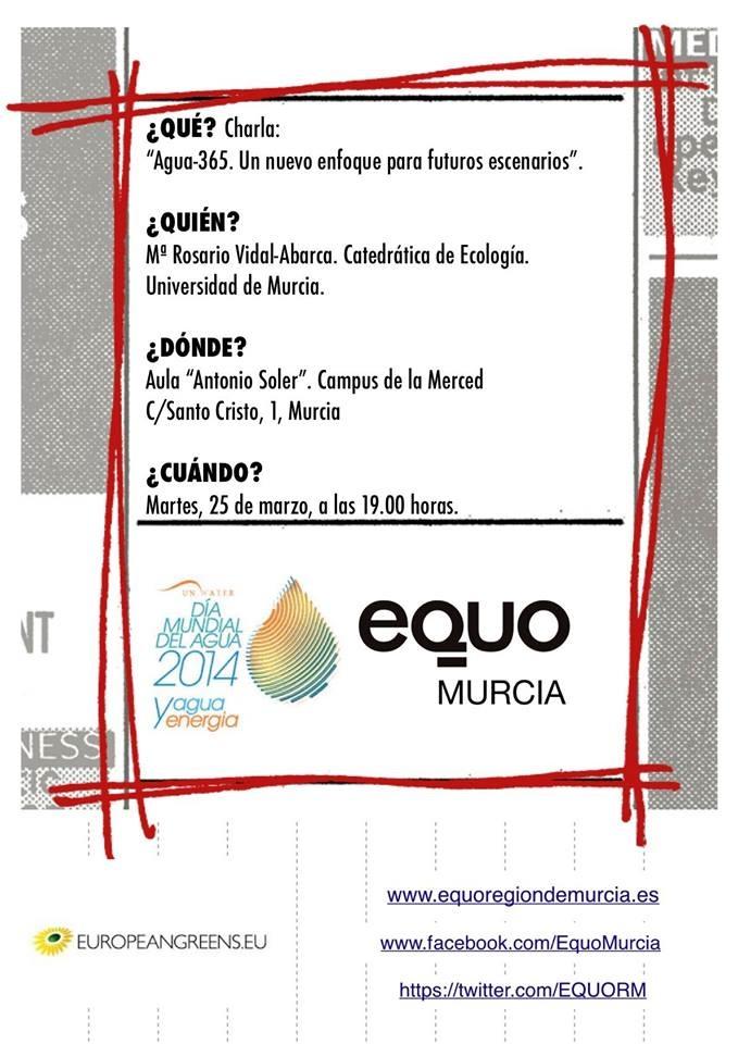 Conferencia organizada por Equo sobre la gestión del agua