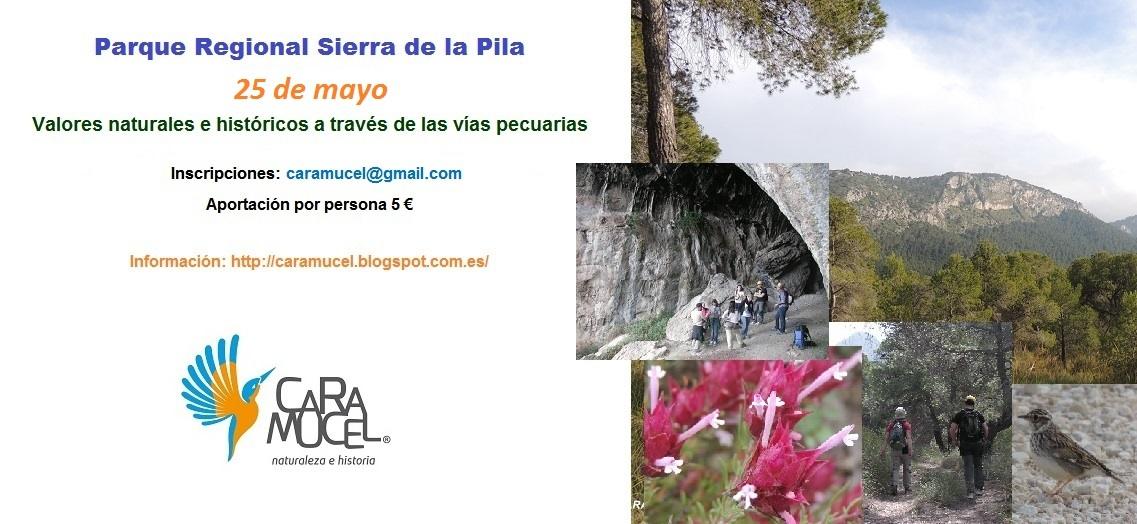 Ruta a la Sierra de La Pila con Caramucel, cartel