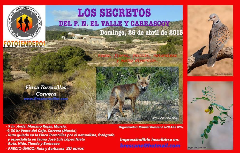 Los secretos del PN de El Valle y Carrascoy en la Finca Torrecillas con Fotosenderos