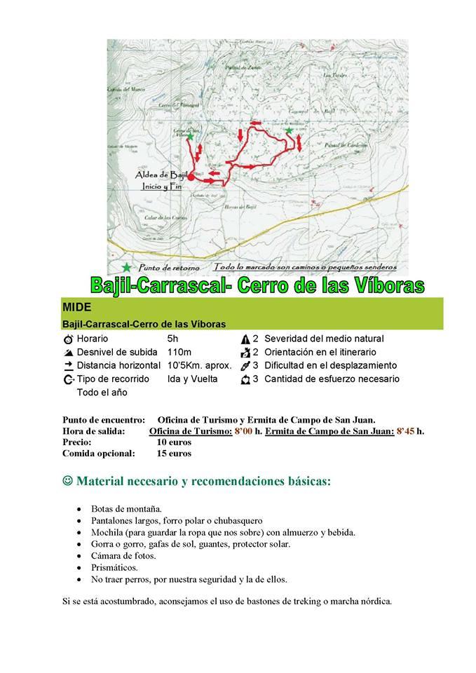 Senderismo al Cerro de las Víboras 1