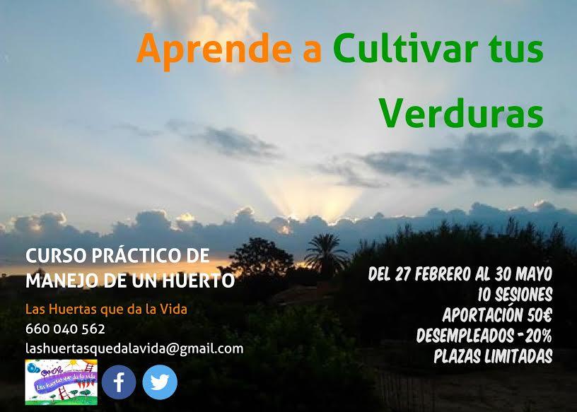 Curso de Agricultura con Las Huertas que da la vida. Info técnica.