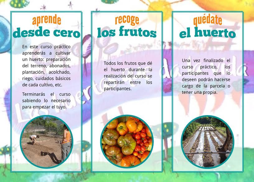 Curso de Agricultura con Las Huertas que da la vida. Otros datos.