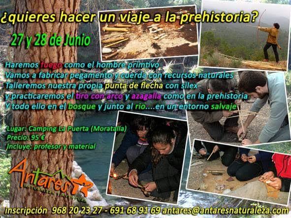 Campamento de vuelta a la prehistoria con Antares Naturaleza y Aventura