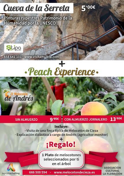 Visita a la Cueva de la Serreta + Peach Experience con la Asociación La Floración de Cieza