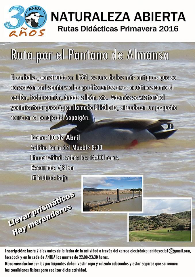 Excursión al Pantano de Almansa, con Anida Yecla