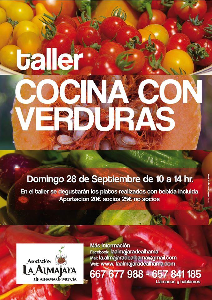 Cocina con verduras, con La Almajara de Alhama de Murcia