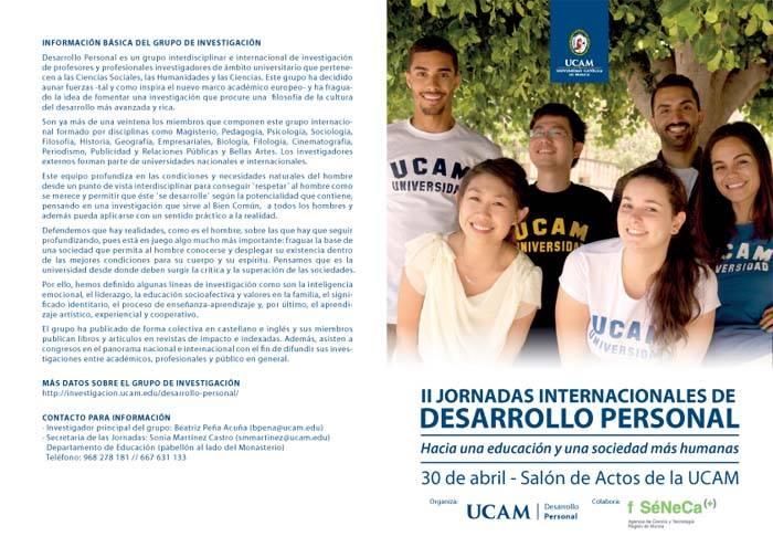 Cartel ponencias sobre naturaleza UCAM