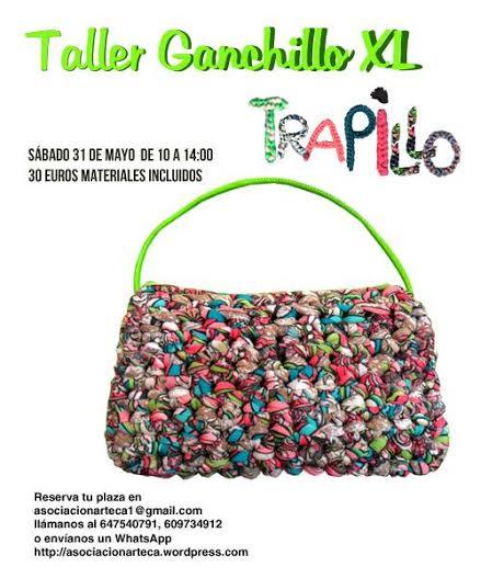 Trapillo: Ganchillo XL con Trapillarte y Arteca