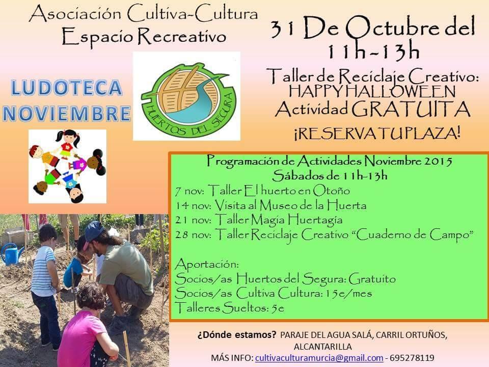 Reciclaje Creativo Happy Halloween con Cultiva-Cultura