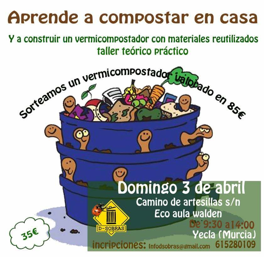 Aprende a compostar en casa, con D-Sobras