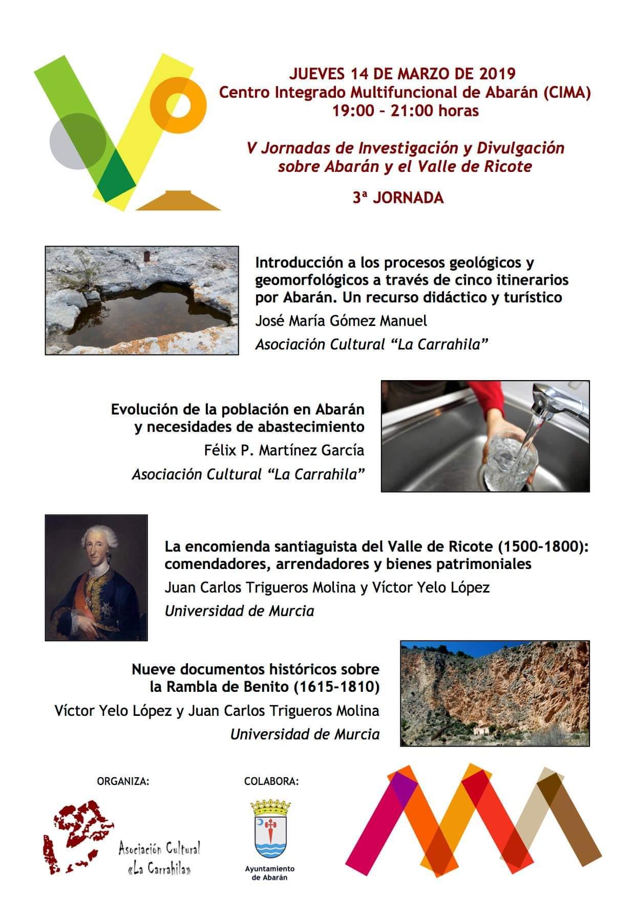 V Jornadas de Investigación y Divulgación sobre Abarán y el Valle de Ricote - 3ª sesión