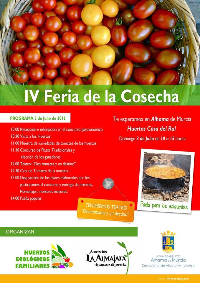 IV Feria de la Cosecha, con los Huertos Ecológicos Familiares de Alhama de Murcia