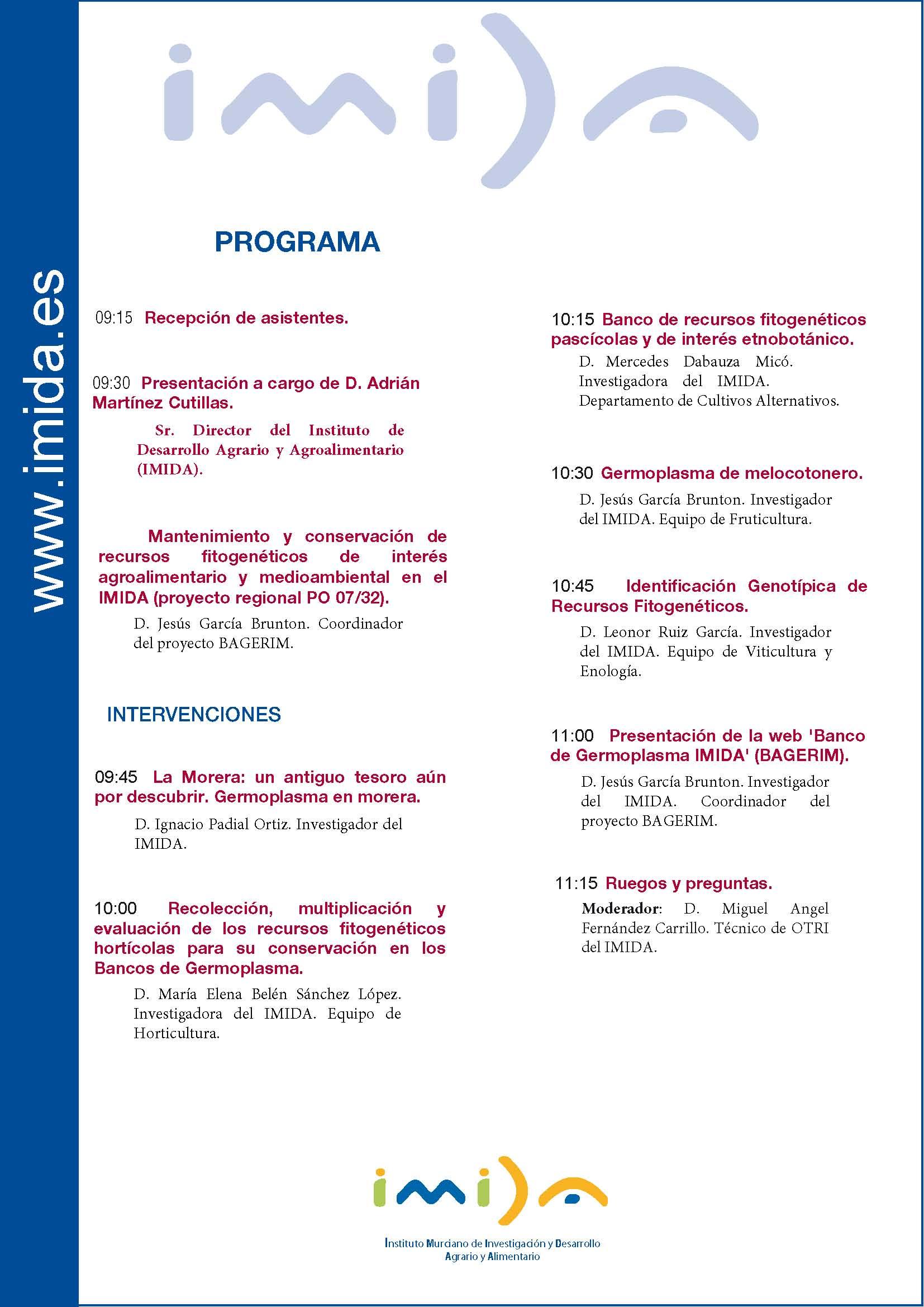 Programa Seminario Imida