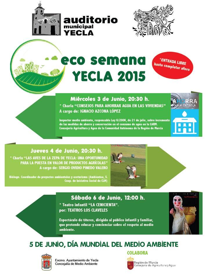 Programa de la Eco Semana de Yecla 2015