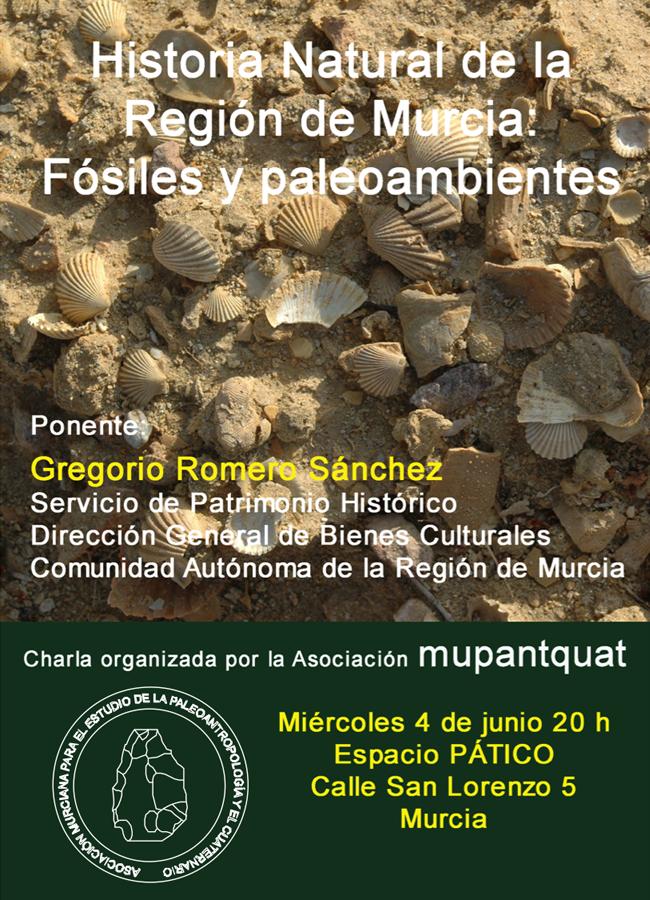 Charla sobre fósiles y paleoambiente, cartel