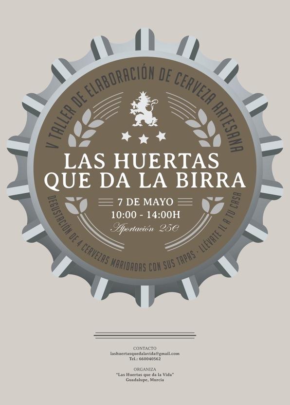 V Taller de elaboración de cerveza artesana 'Las Huertas que da la Birra'.