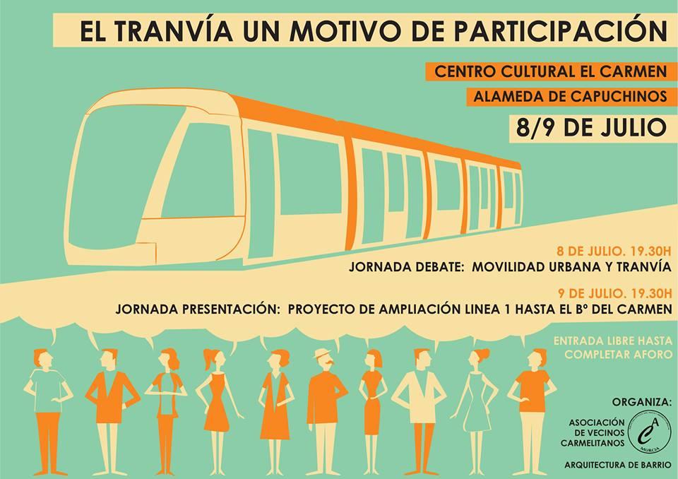 Jornadas de explicación y debate sobre la ampliación de la línea 1 del tranvía al Barrio del Carmen.