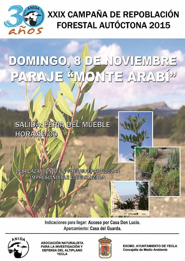 Repoblación forestal en el monte Arabí con Anida Yecla
