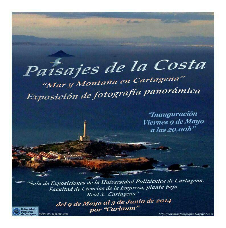Exposición de fotografía panorámica sobre la costa de Cartagena