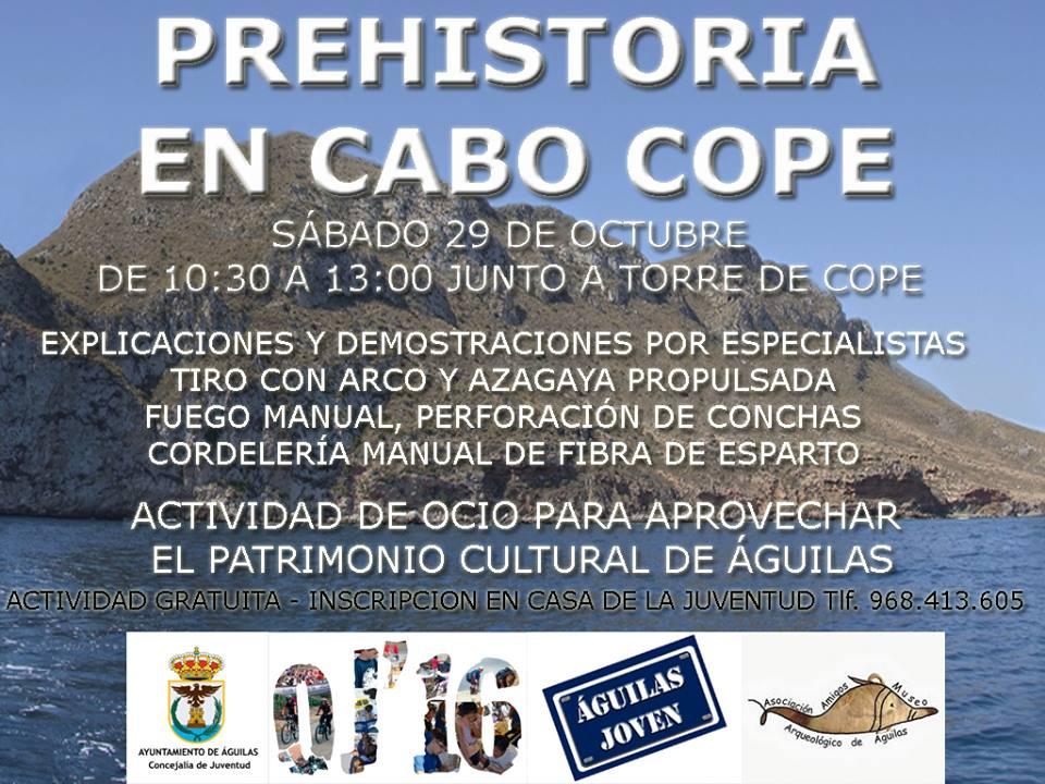 Prehistoria en Cabo Cope, con el Ayto. de Águilas.