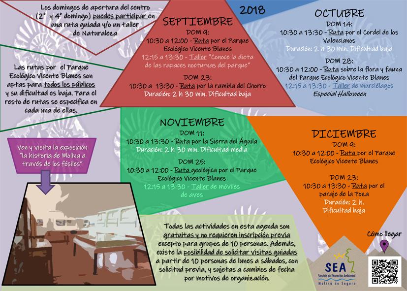 Programación del Centro de Información del Rellano, con el Ayto. de Molina de Segura