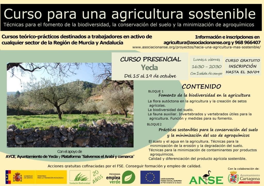 Curso sobre Agricultura Sostenible en Yecla, con ANSE