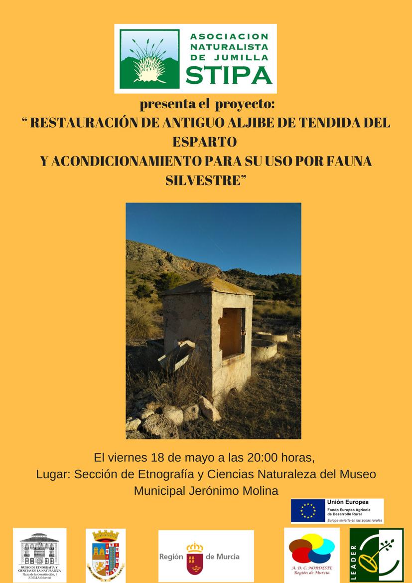 Proyecto de restauración de un aljibe para su uso por fauna silvestre, con STIPA
