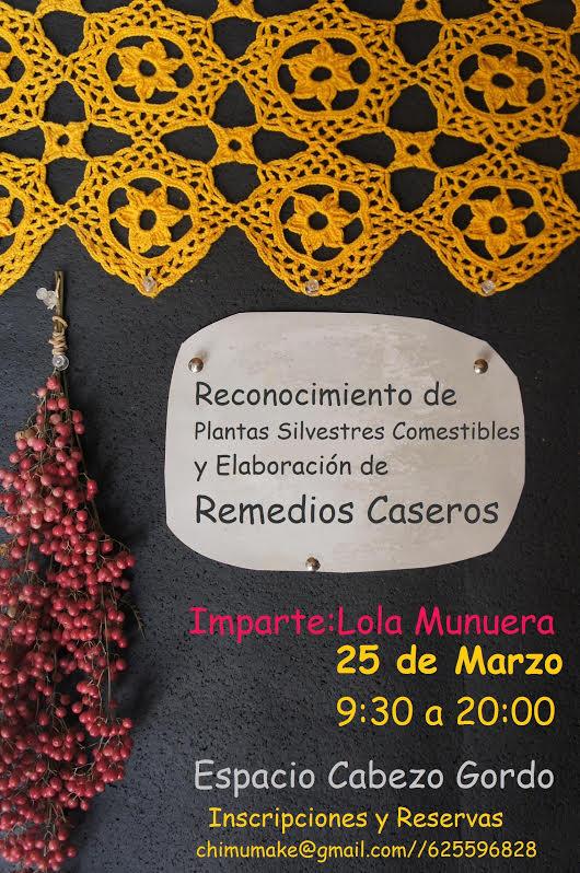 Taller de elaboración de remedios caseros, con Lola Munuera