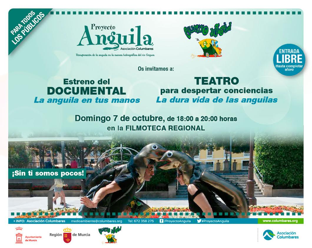 Documental y Teatro por la anguila, con al Asociación Columbares