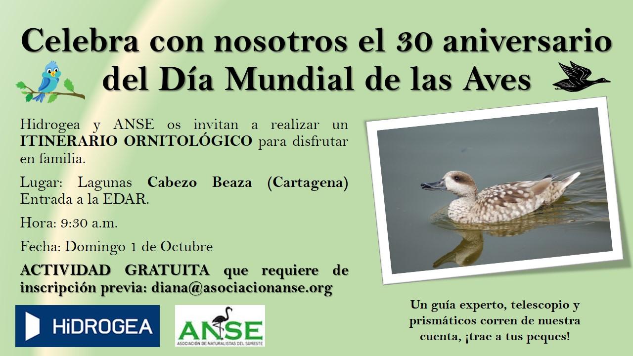 Itinerario ornitológico en las lagunas, con ANSE