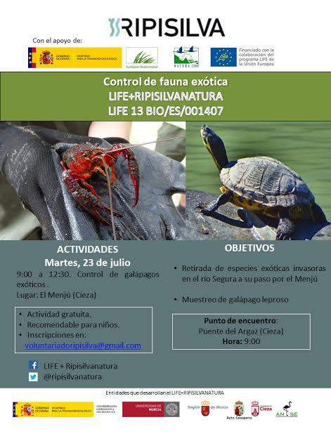 Control de fauna exótica, con ANSE