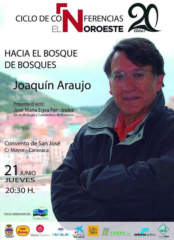Charla sobre bosques de Joaquín Araujo, con El Noroeste