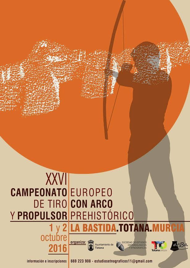 Campeonato Europeo de tiro con arco prehistorico y propulsor