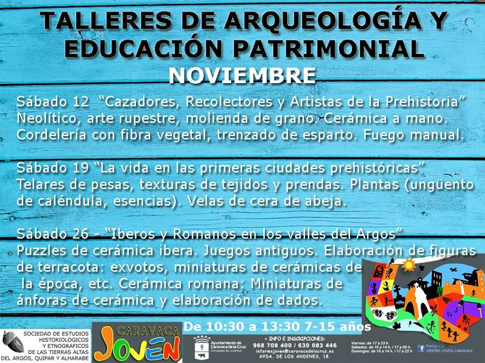 Programa de Arqueología y Educación Patrimonial de la SEHETAAQA en Caravaca.