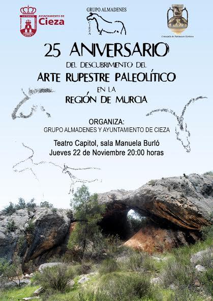 25 aniversario Arte Rupestre Paleolítico en la Región de Murcia, con el Grupo Almadenes