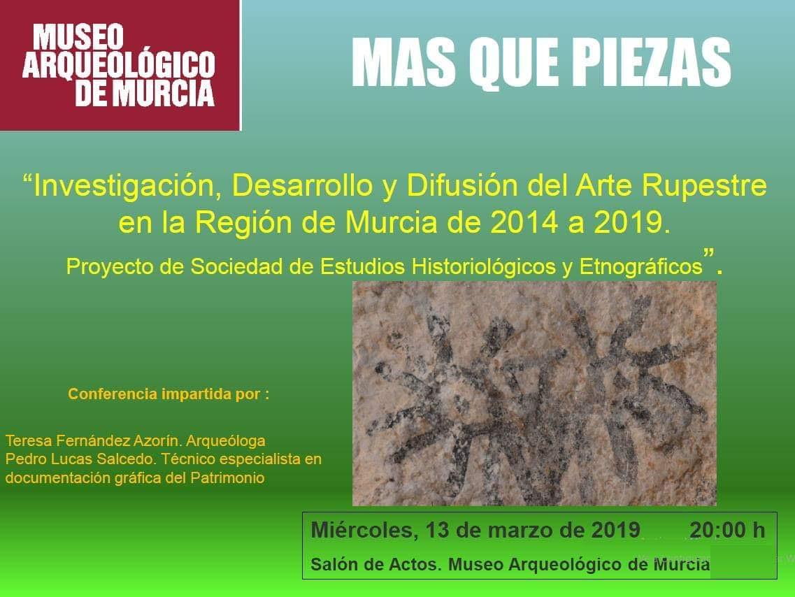 Arte Rupestre en la Región de Murcia de 2014 a 2019, con el MAM